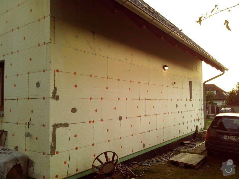 Natažení fasády RD tzv. do lepidla: IMG_20130904_191528