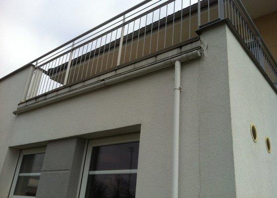 Oprava oplechování terasy a následná lokální oprava fasády