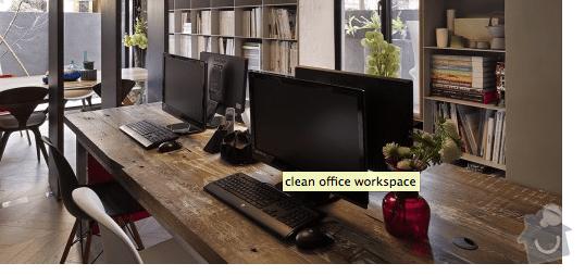 Dřevený pracovní stůl: kancelar_stul