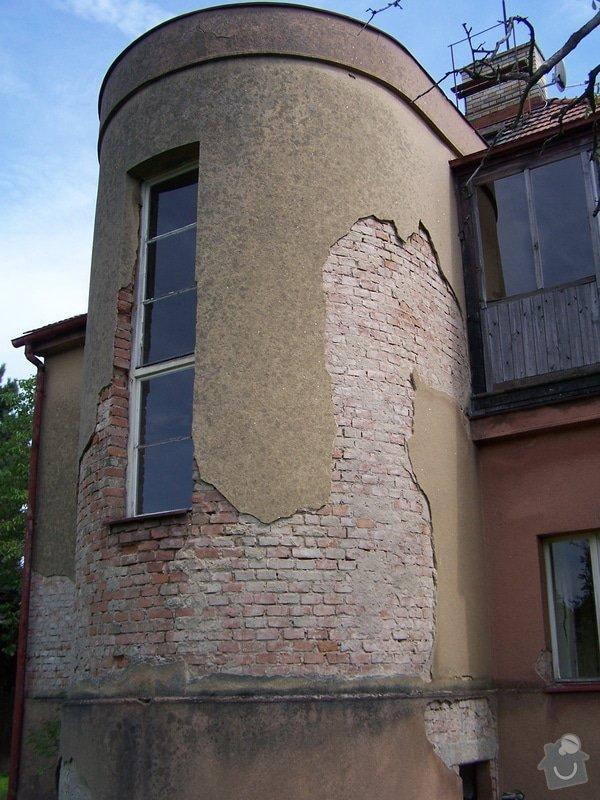 Výměna okapů, omítnutí vnějšího pláště, drobná oprava střechy: 100_7122