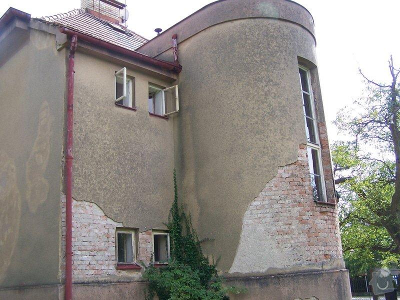 Výměna okapů, omítnutí vnějšího pláště, drobná oprava střechy: 100_7128