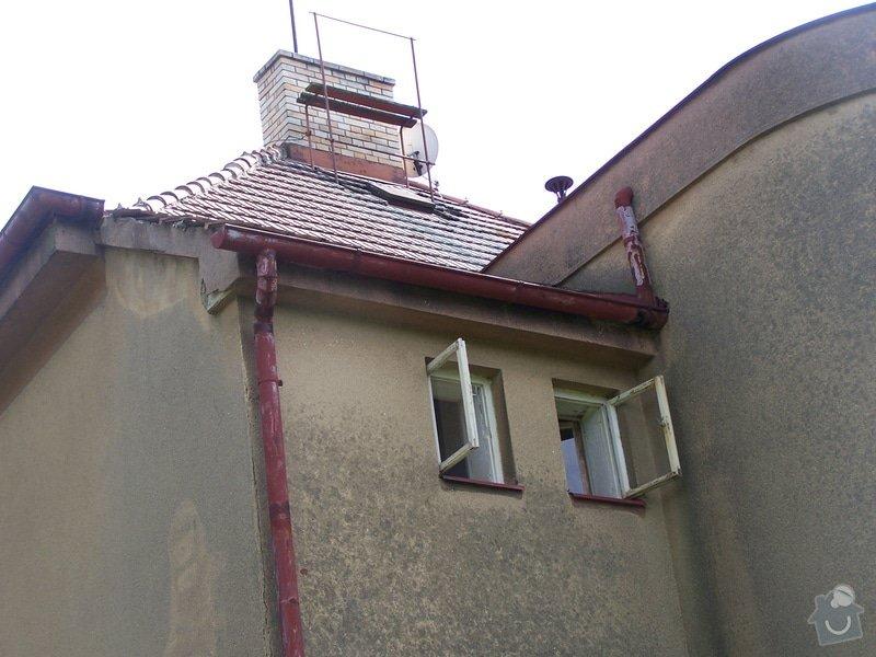 Výměna okapů, omítnutí vnějšího pláště, drobná oprava střechy: 100_7129