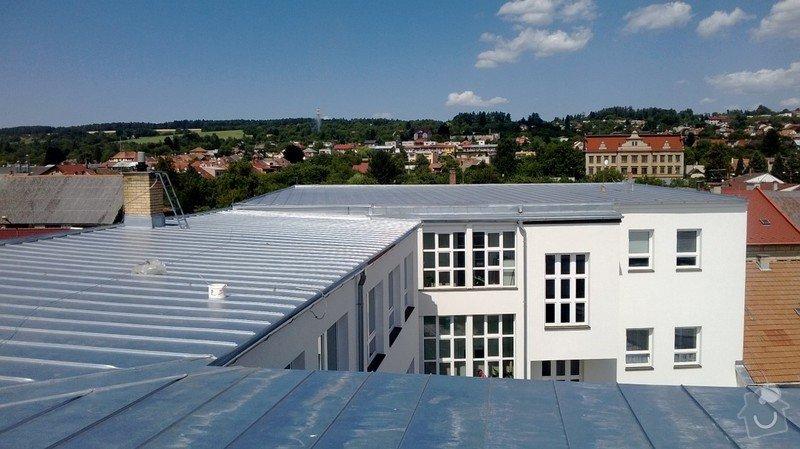 Oprava střechy OUPRŠ Hořice: WP_20130723_007