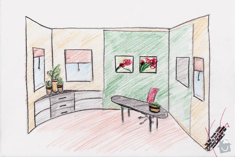 Zhotovení showroomu (imitace 2 místností k vystavování) : pohled-dovnitr