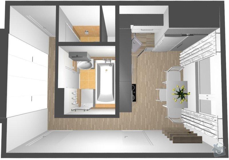 Rekonstrukce bytového jádra na Starém Brně: 001