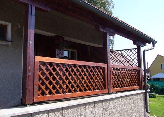 Zhotovení dřevěného zábradlí na terasu