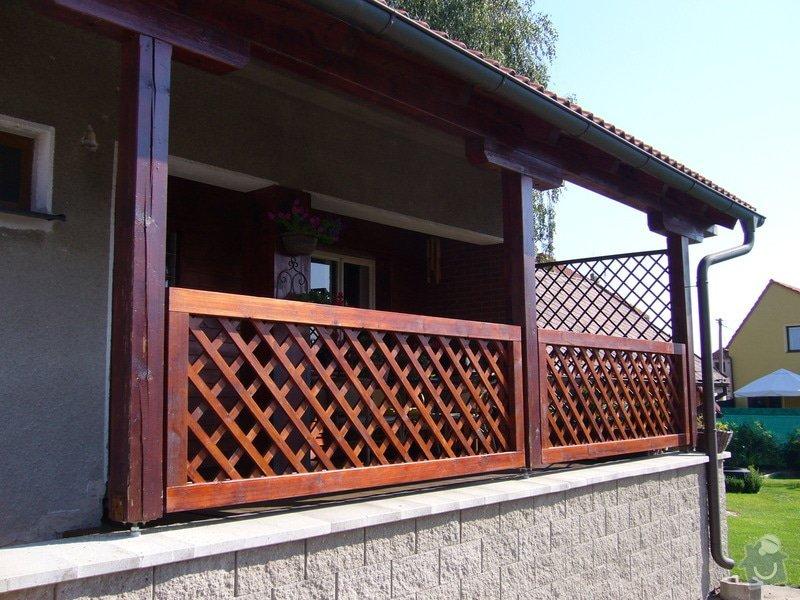 Zhotovení dřevěného zábradlí na terasu: P1050683