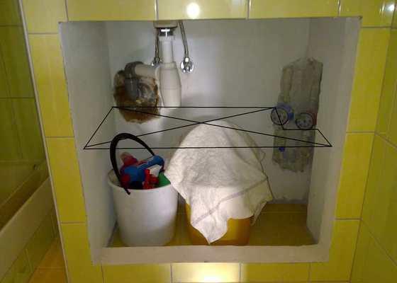 Skříňky do koupelny a na záchod, postel, vestavěnou skříň