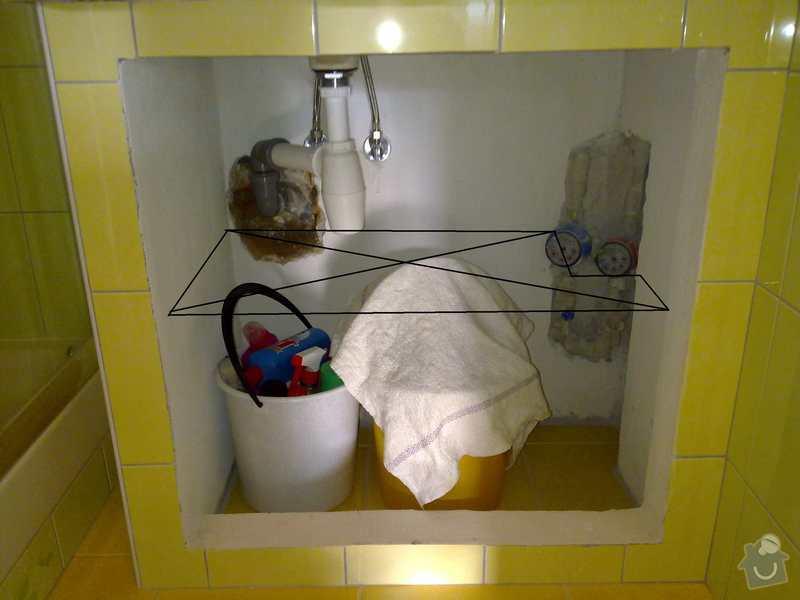 Skříňky do koupelny a na záchod, postel, vestavěnou skříň: naznaceni_policky_pod_umyvadlo