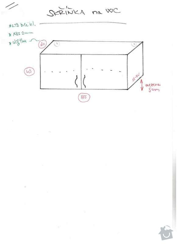 Skříňky do koupelny a na záchod, postel, vestavěnou skříň: skrinky_zachod