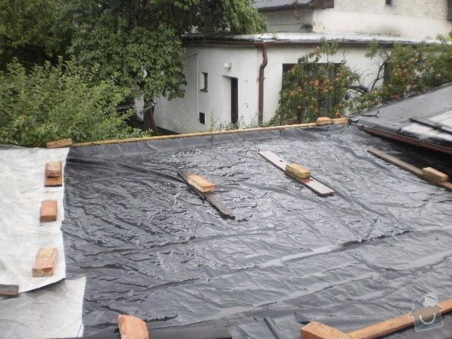 Pokladka krytiny plocha strecha: P9100102