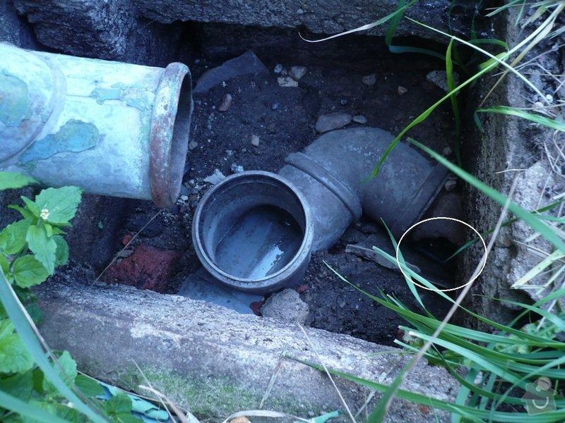 Oprava a připojení deštových svodů do kanalizace: pripoj