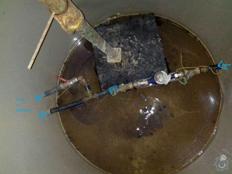 Instalace hodin na vodu: pripojka