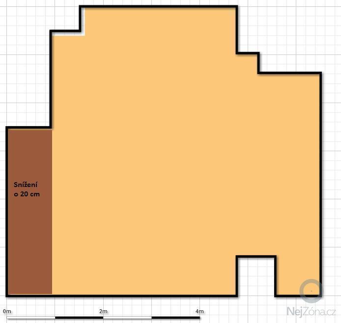 Vytvoření podkladové vrstvu pro finální podlahu na půdě : pudorys