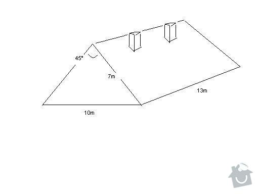 Rekonstrukce střechy: nacrtek