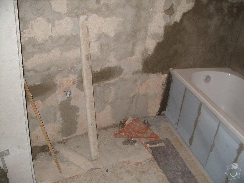 Srovnání podkladu zdí, obložení koupelny, štukové omítky: SS856872