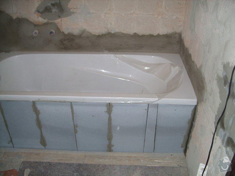 Srovnání podkladu zdí, obložení koupelny, štukové omítky: SS856875