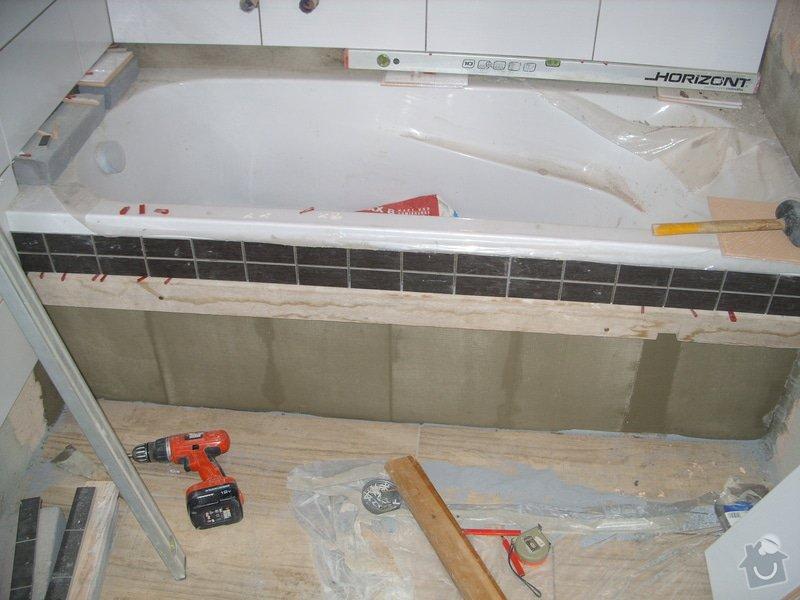 Srovnání podkladu zdí, obložení koupelny, štukové omítky: SS856890