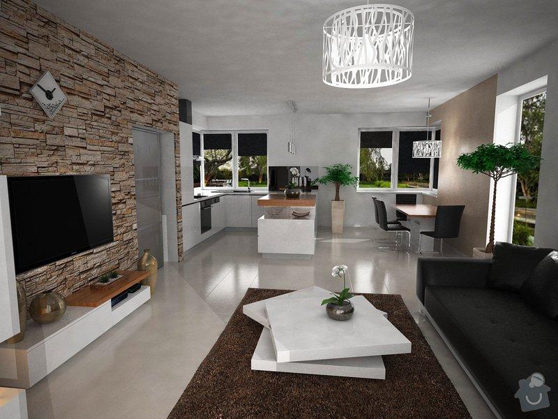 Vizualizace kuchyně s obývacím pokojem: zame1_