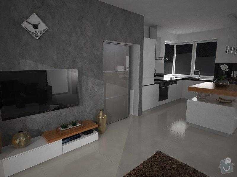 Vizualizace kuchyně s obývacím pokojem: zamecnikova1