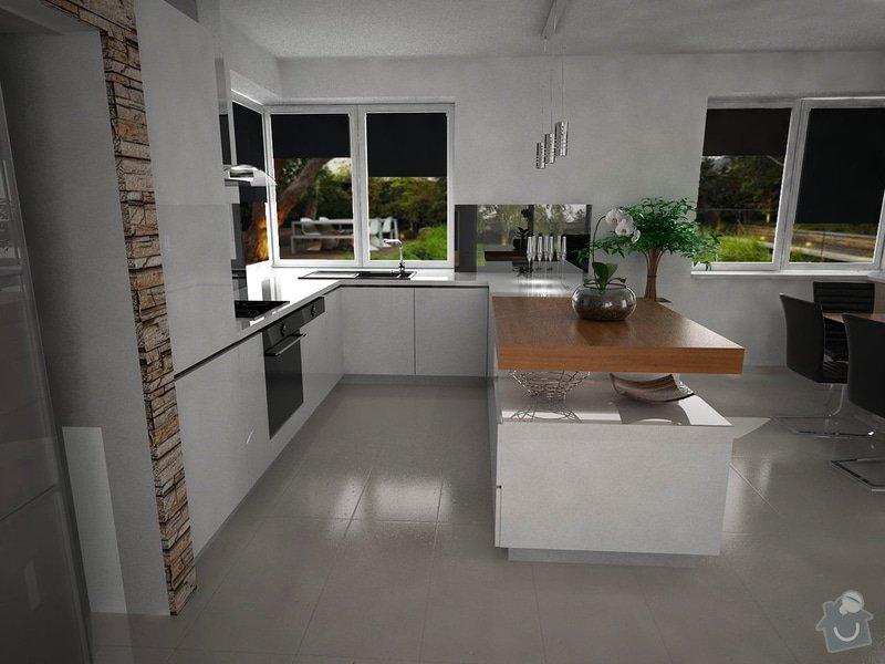 Vizualizace kuchyně s obývacím pokojem: zame3_