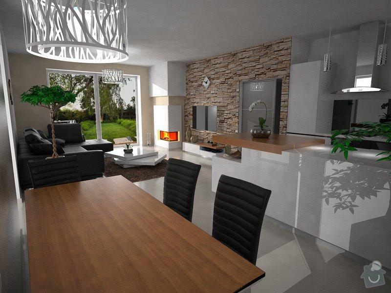 Vizualizace kuchyně s obývacím pokojem: zame2_