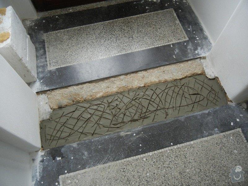 Renovace podlahy - lité teraco a schodiště: te3