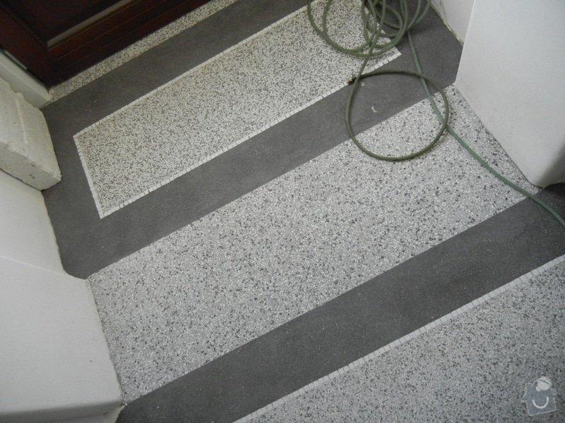 Renovace podlahy - lité teraco a schodiště: te5