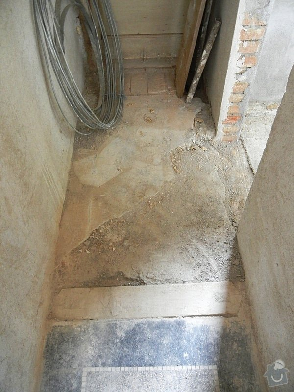 Renovace podlahy - lité teraco a schodiště: te6a