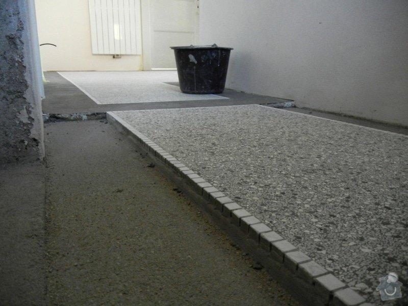 Renovace podlahy - lité teraco a schodiště: te8
