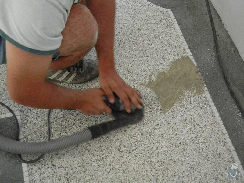 Renovace podlahy - lité teraco a schodiště: te14
