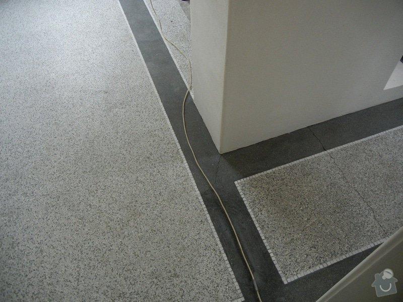 Renovace podlahy - lité teraco a schodiště: te16