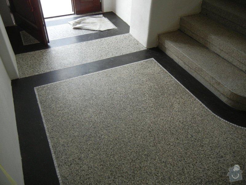 Renovace podlahy - lité teraco a schodiště: te19