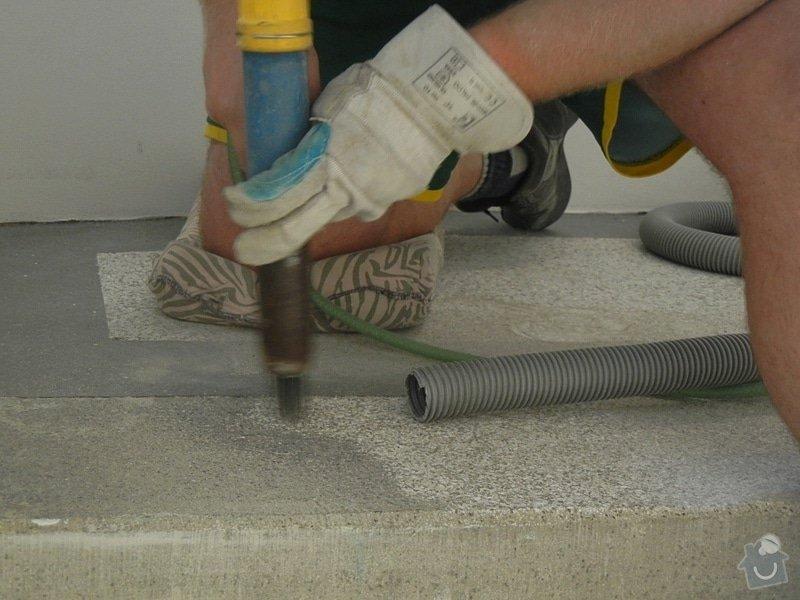 Renovace podlahy - lité teraco a schodiště: te20