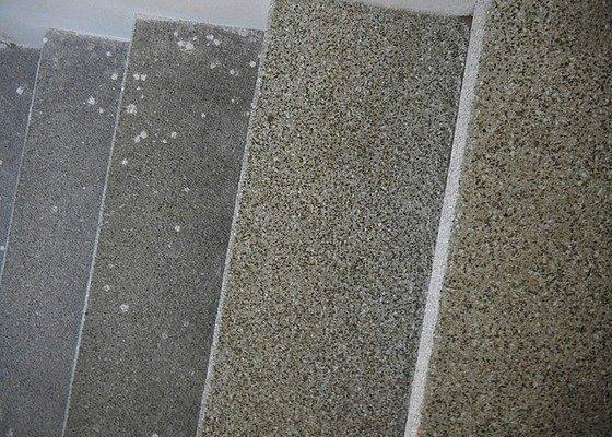 Renovace podlahy - lité teraco a schodiště