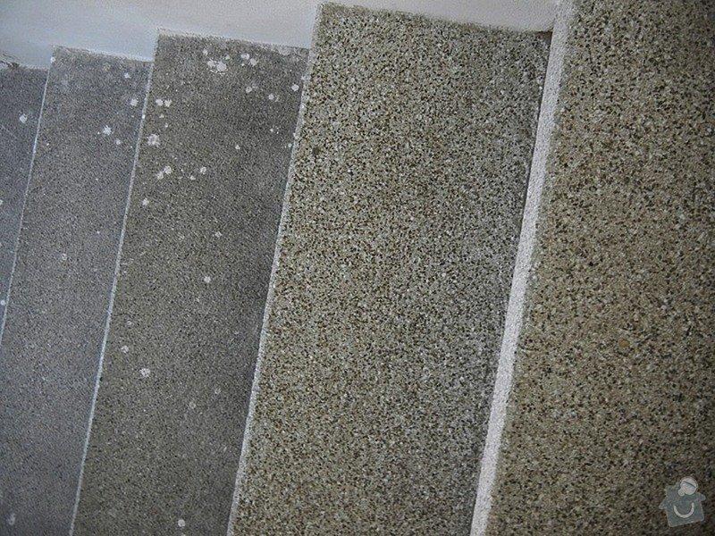 Renovace podlahy - lité teraco a schodiště: te21