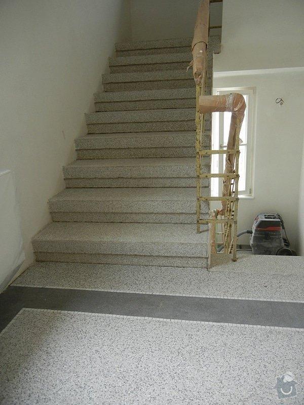 Renovace podlahy - lité teraco a schodiště: te22