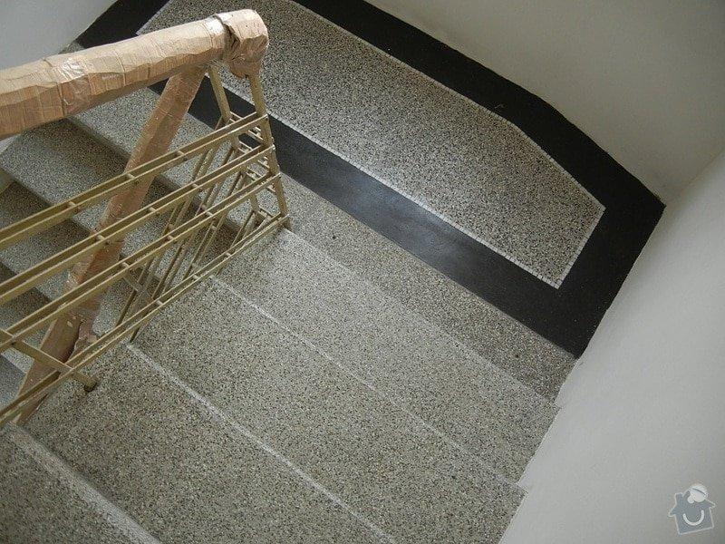 Renovace podlahy - lité teraco a schodiště: te23