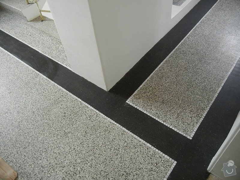 Renovace podlahy - lité teraco a schodiště: te24