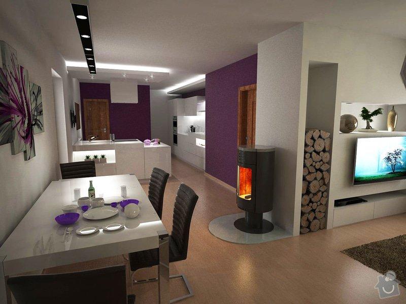 Návrh obývacího pokoje s kuchyní: moravcova1