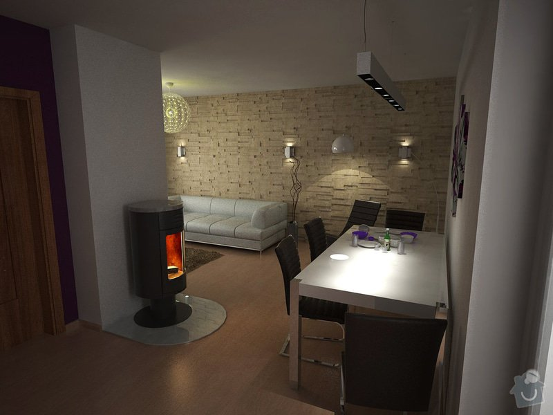 Návrh obývacího pokoje s kuchyní: moravcova2