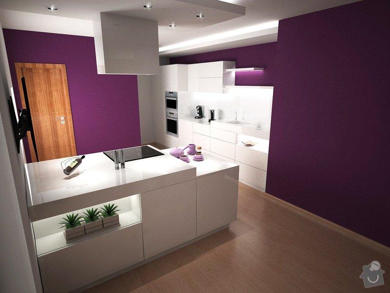 Návrh obývacího pokoje s kuchyní: moravcova3