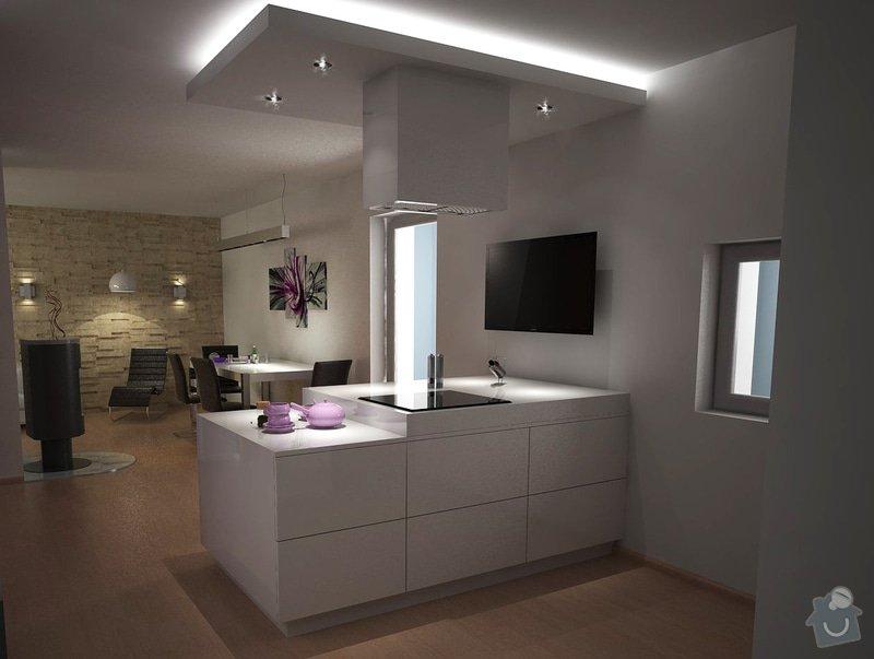 Návrh obývacího pokoje s kuchyní: moravcova5