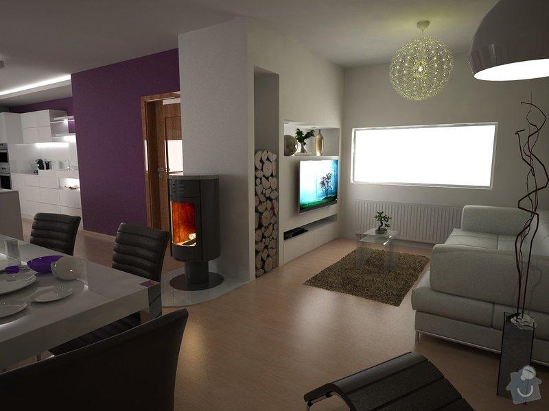 Návrh obývacího pokoje s kuchyní: moravcova6