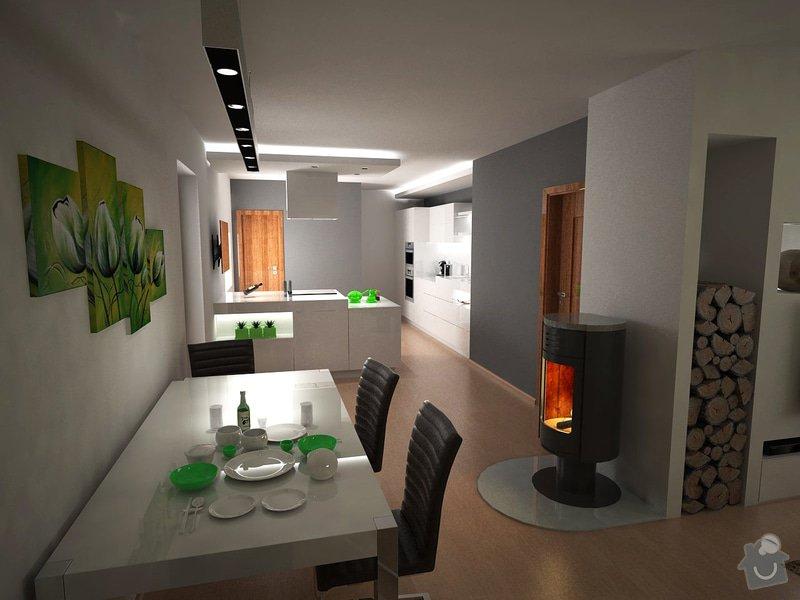 Návrh obývacího pokoje s kuchyní: moravcova7