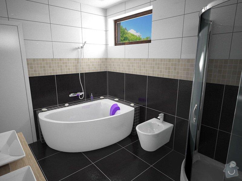 Návrh rekonstrukce koupelny: K1