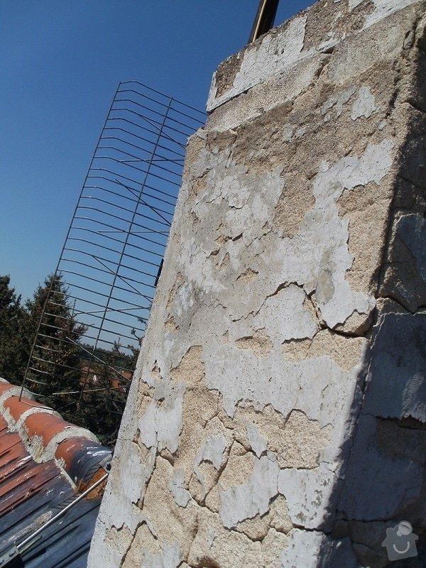Opravu nadstřešní části komínu : s34