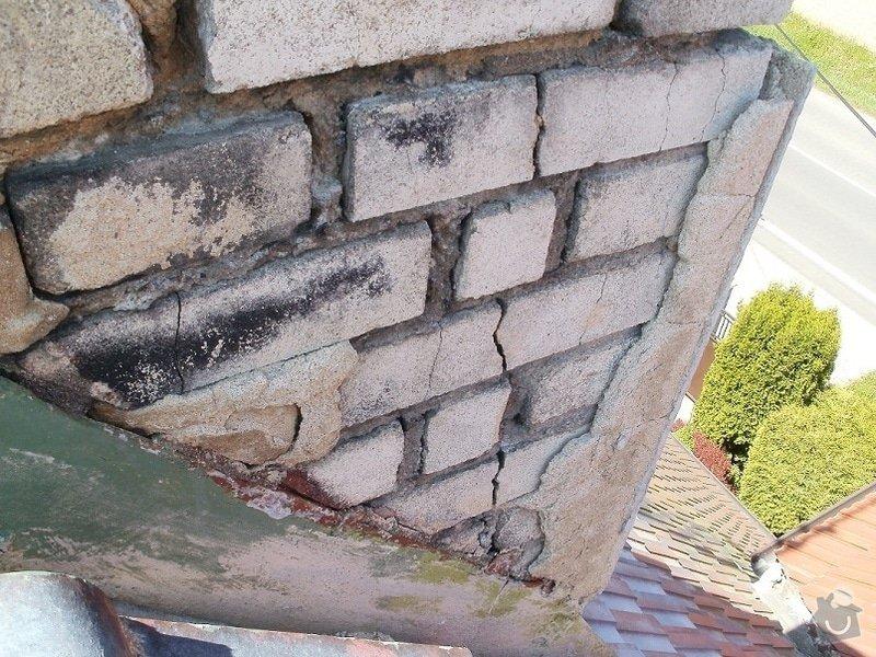 Opravu nadstřešní části komínu : s32