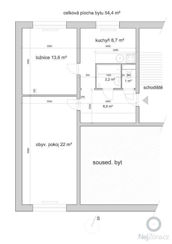 Rekonstrukce bytoveho jadra: byt