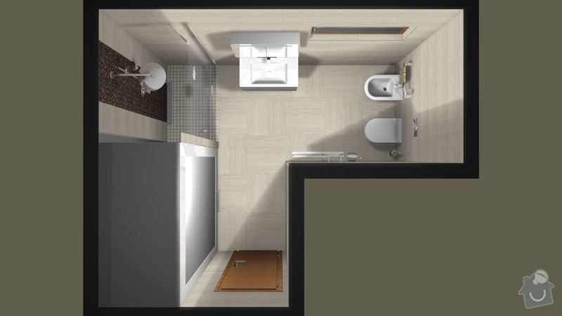 Rekonstrukce koupelny v RD: koupelna_pudorys